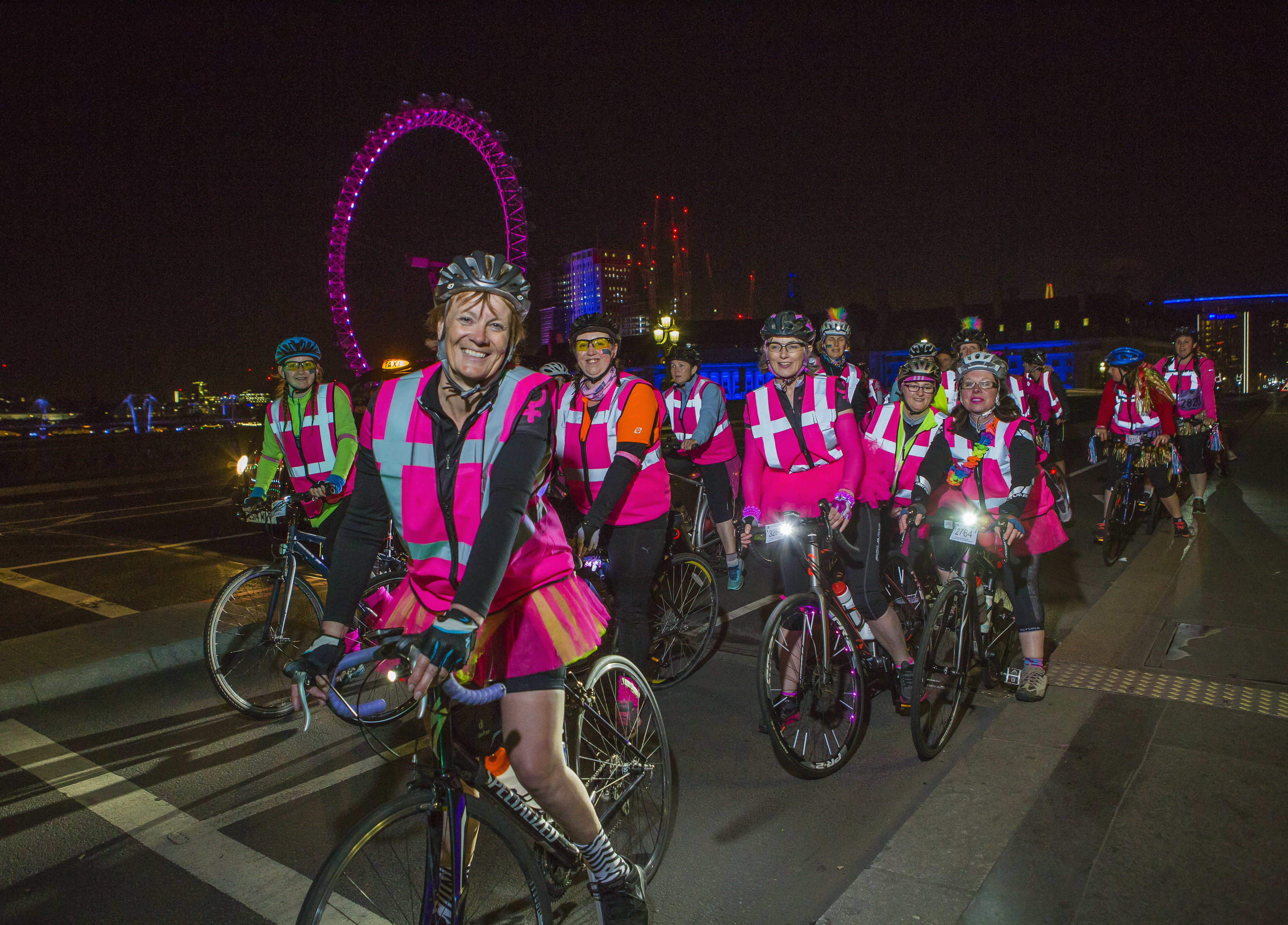 Ride the Night Cyclists at London Eye