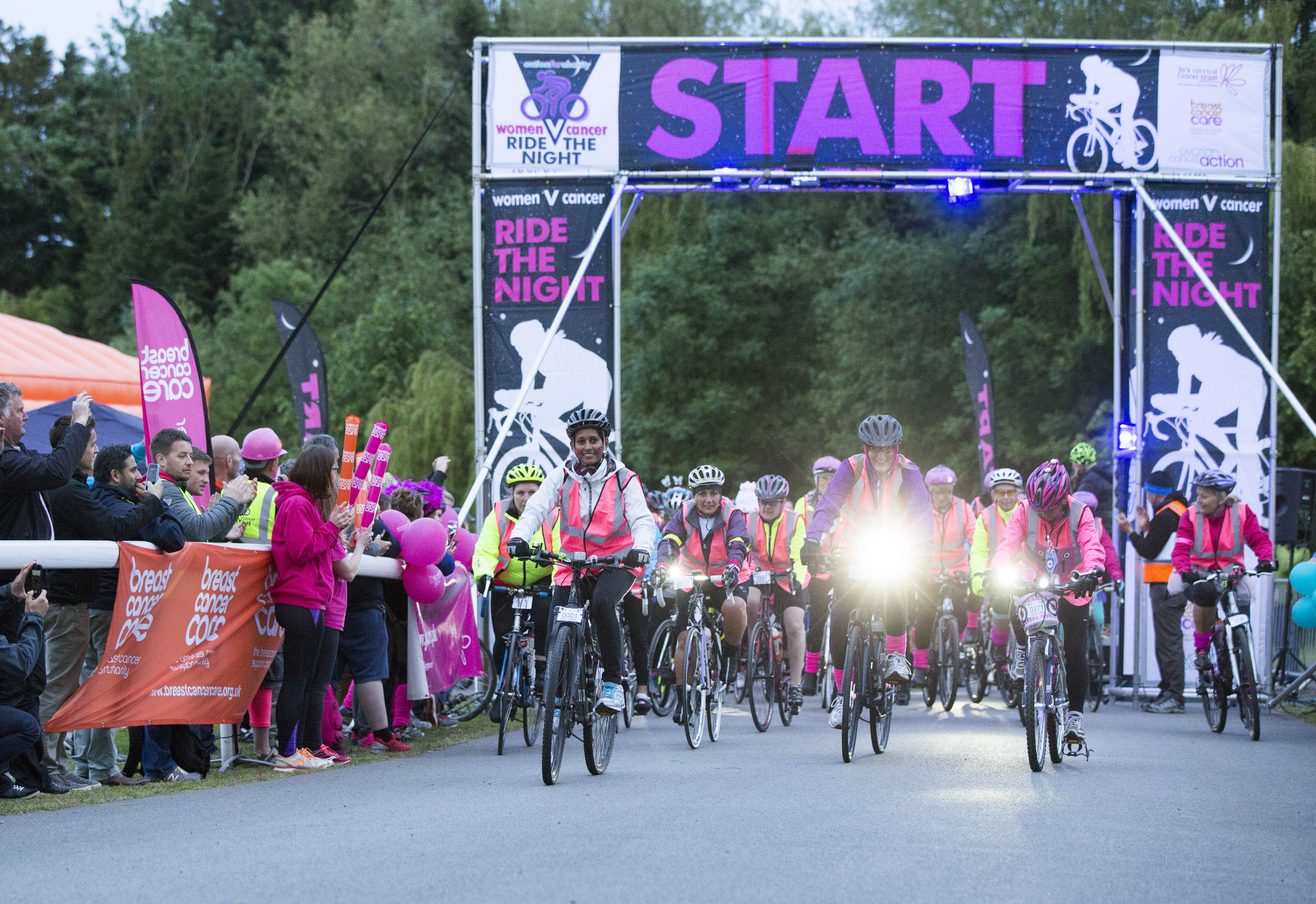Women V Cancer Ride The Night Start
